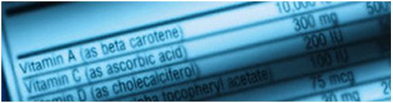 Etiquetas de información nutrimental