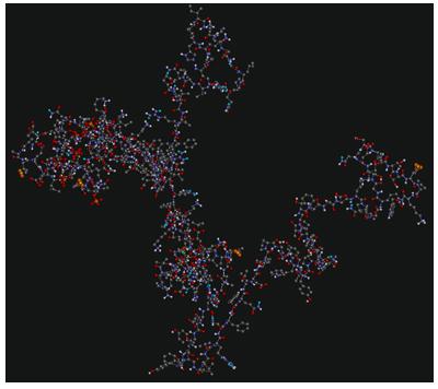 Modelo tridimensional β-caseína