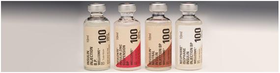 Diferentes mezclas de insulina utilizadas en terapia