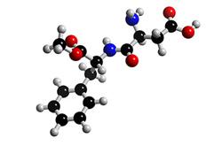 Molecula de aspartame (C14H18N2O5)