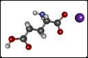 Molécula de glutamato(NaC5NH8O4)