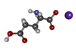 Molécula de glutamato (NaC5NH8O4)