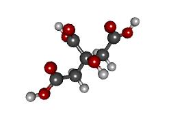 Molécula de ácido cítrico (C6H8O7)