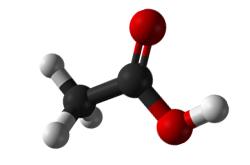 Molecula de acido acetico (CH3COOH)