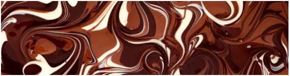 Diferentes tipos de chocolate derretidos